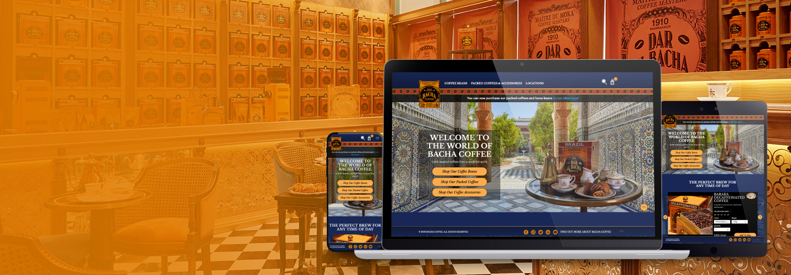 BACHA COFFEE ECOMMERCE WEBSITE UX, DESIGN & DEVELOPMENT